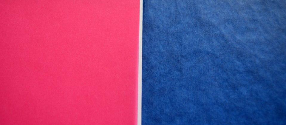Das linke Transparentpapier ist sehr glatt und recht stark, das rechte hingegen ist hauchdünn und von Haus aus etwas knittrig.